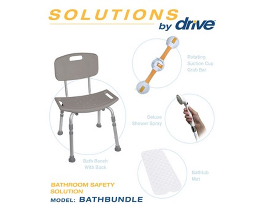 Drive BATHBUNDLE Bathroom Safety Solution