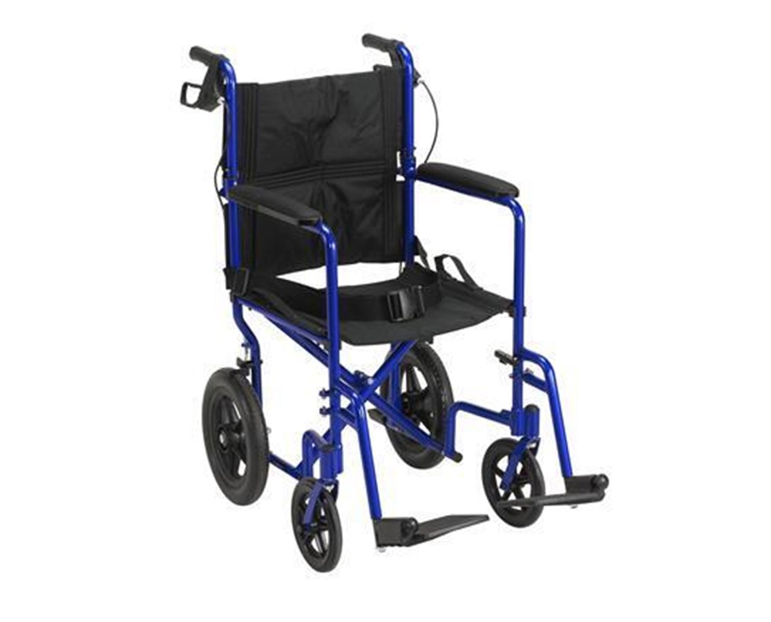 Drive EXP19LTBL Lightweight Expedition Aluminum Transport Wheelchair