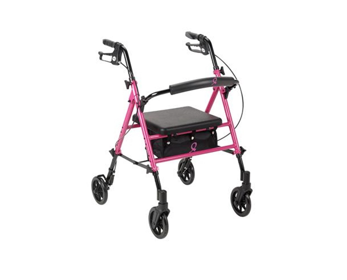 "MJM RTL10261BC ACS Aluminum Rollators with 6"" Wheels"