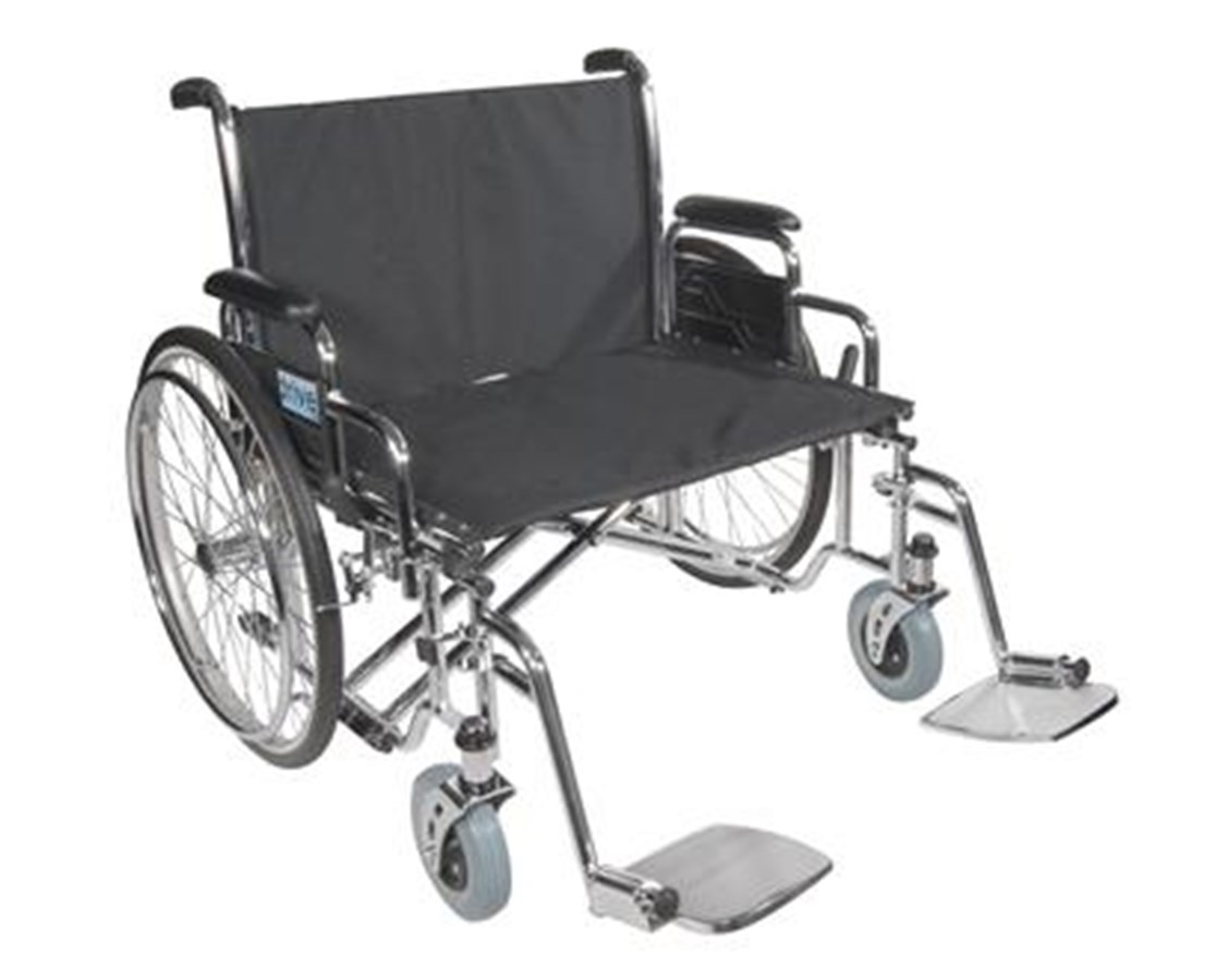 Sentra EC Heavy Duty Extra Wide Wheelchair with Various Arm Styles Arms DRISTD26ECDDA