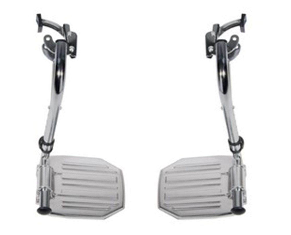 Swing-Away Footrests for Bariatric Sentra Wheelchairs DRISTDSF-TF