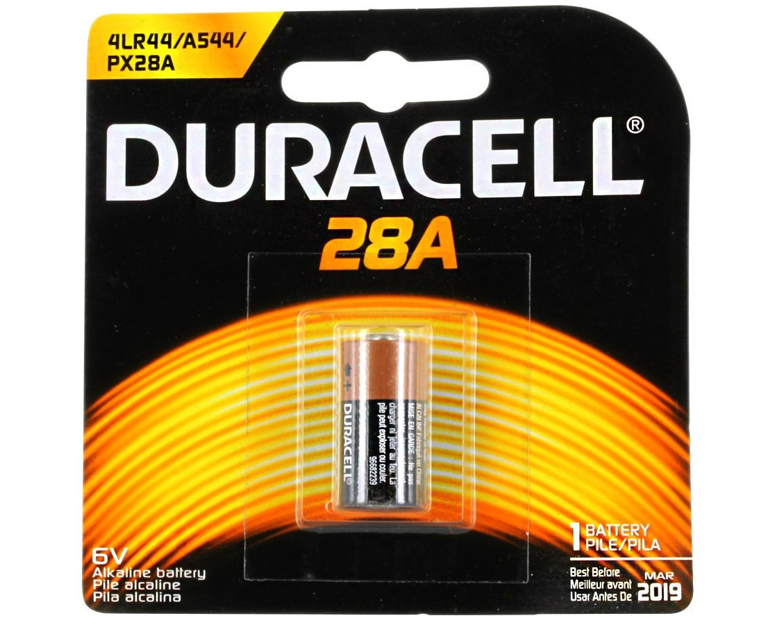 Duracell 28A 6V Alkaline Button Top Medical Battery - 6/Box