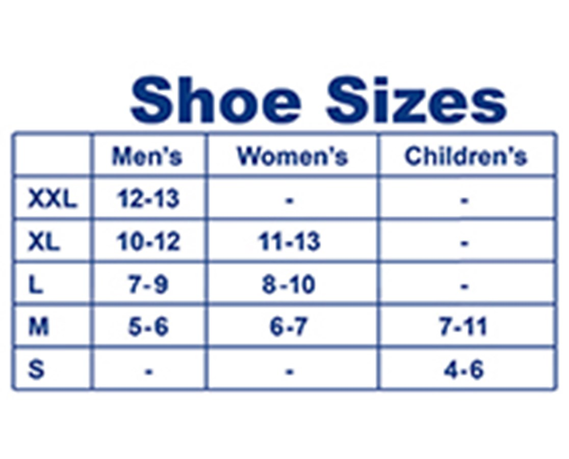 Sock Size   To  Equivalent To Shoe Size