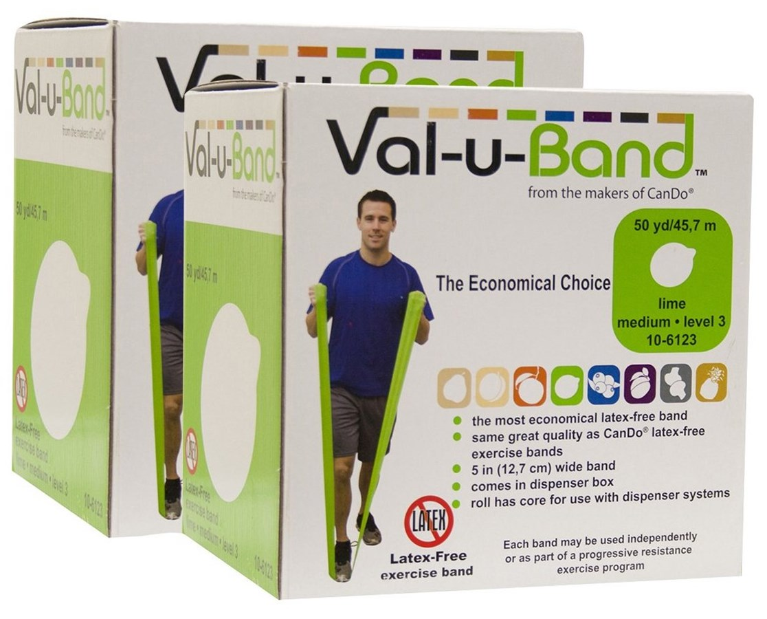 Val-u-Band® Berry Colors® Latex-Free Exercise Band - Twin Pak FEI10-6130