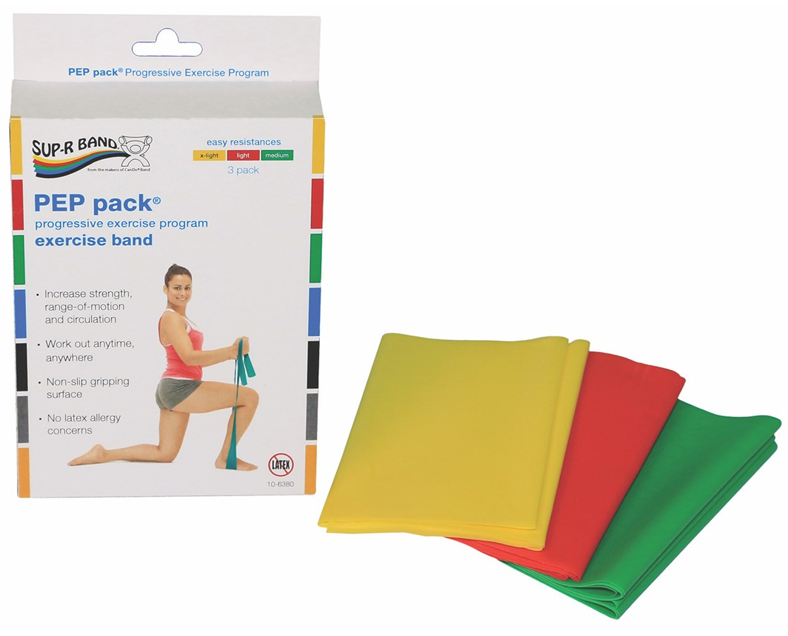 Sup-R Band® Latex-Free Exercise Band, PEP® Pack FEI10-6380-