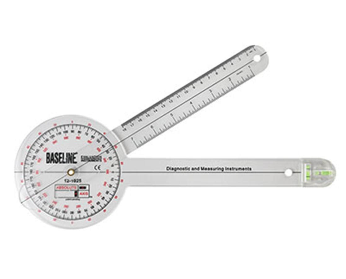 Plastic Absolute+Axis Goniometer - 360 Degree Head - 12 inch Arms FEI 12-1025-