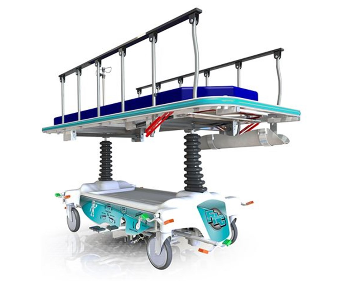 Mobilecare Hospital Stretcher with 5th Wheel FHC7200
