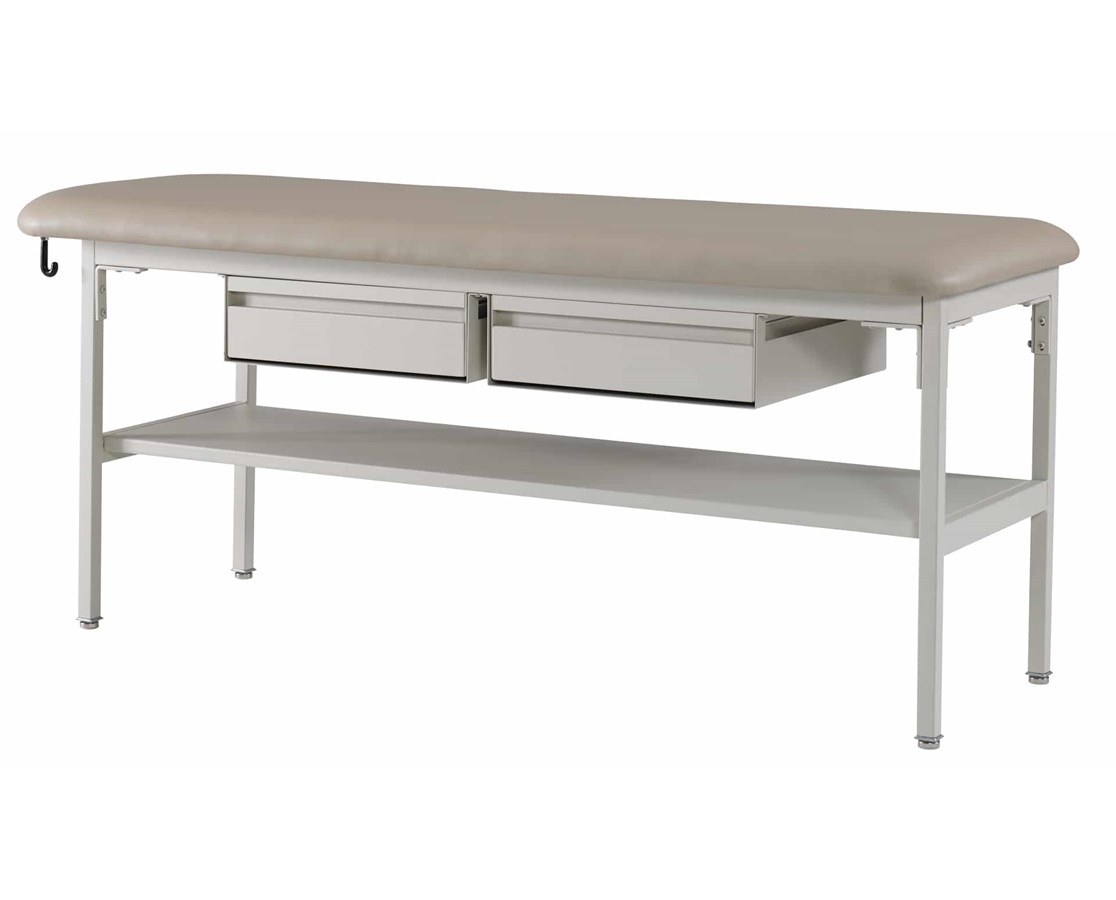 Flat Top Treatment Table with Shelf and Drawers GFH4103