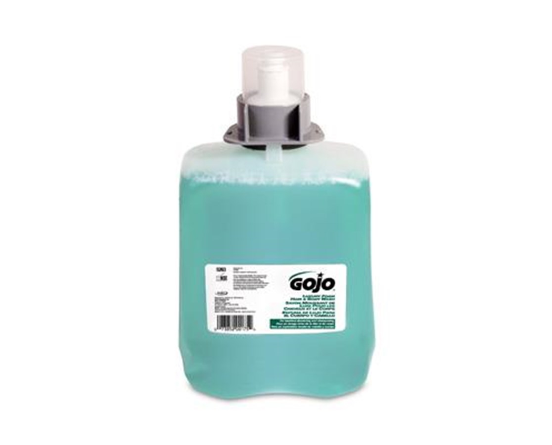 GOJO 5263-02 Green Certified Foam Hand, Hair & Body Wash