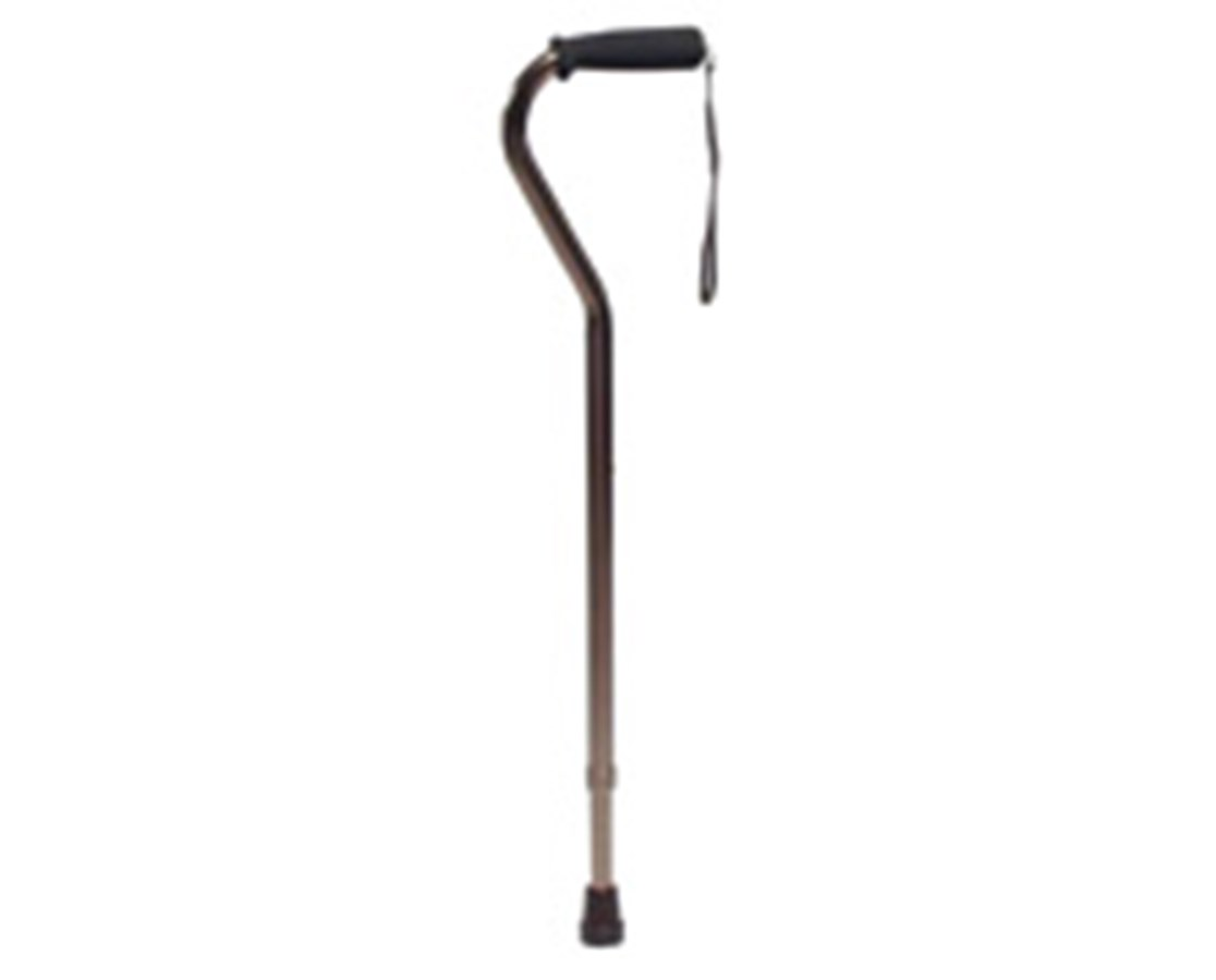 Offset Bronze Cane with Adjustable Nitrile Grip GRAGF5941-1