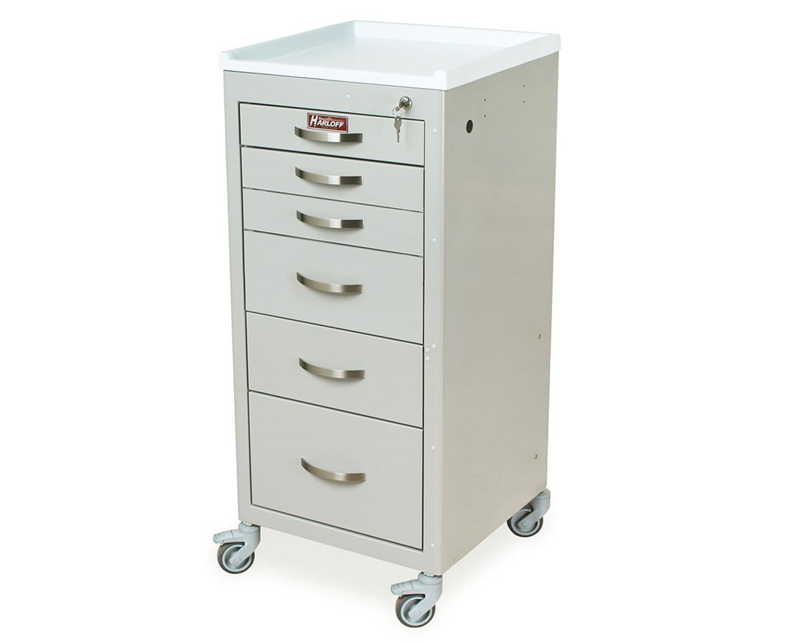 Mini Line Six Drawer Anesthesia Cart HAR3156K-