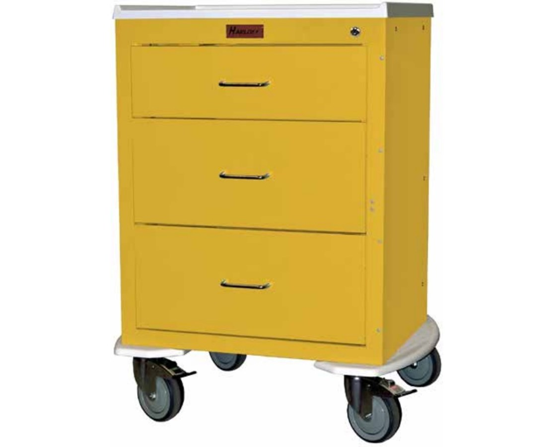 Mini24 Three Drawer Short Infection Control Cart HAR4243K-