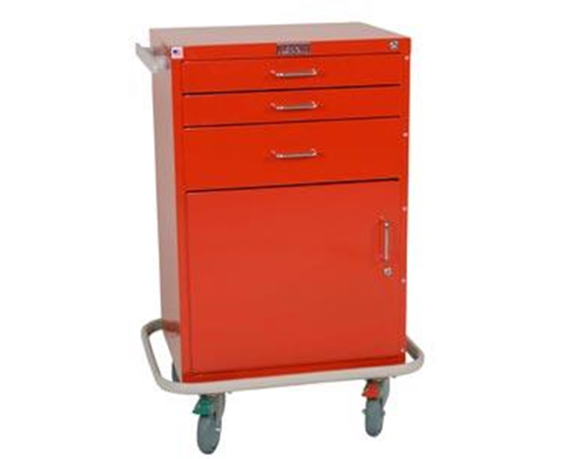 GP Line Three Drawer Treatment Cart with Storage Compartment HAR6150-