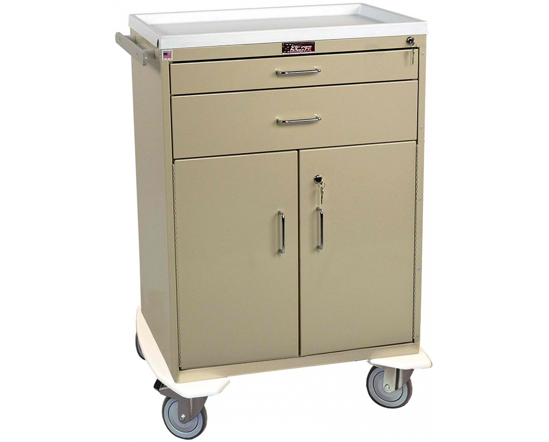 Classic Two Drawer Treatment Cart with Lower Storage Compartment HAR6200-