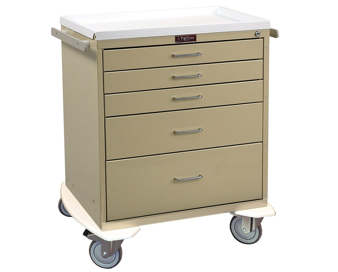 Classic Short Five Drawer Workstation Cart HAR6315K-