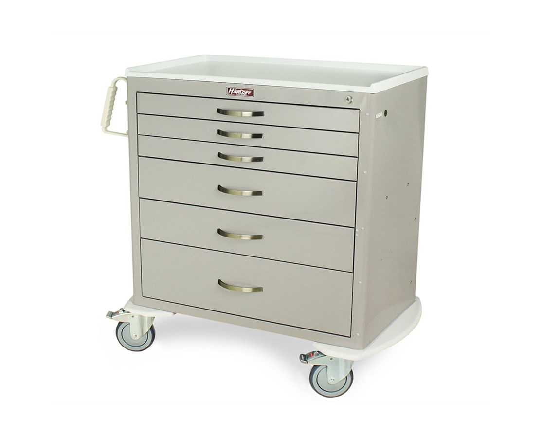 Classic Short Six Drawer Workstation Cart HAR6316K-