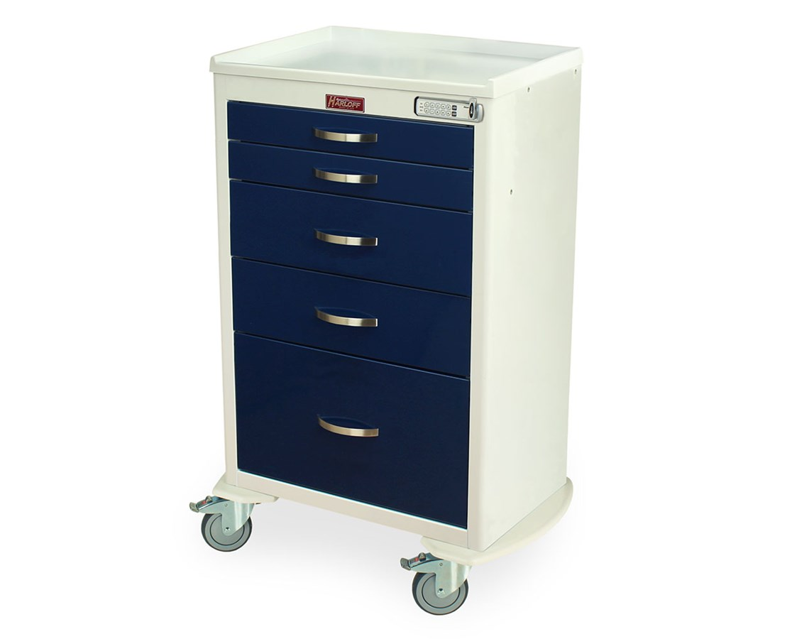 Classic Short Five Drawer Emergency Cart HAR6330-