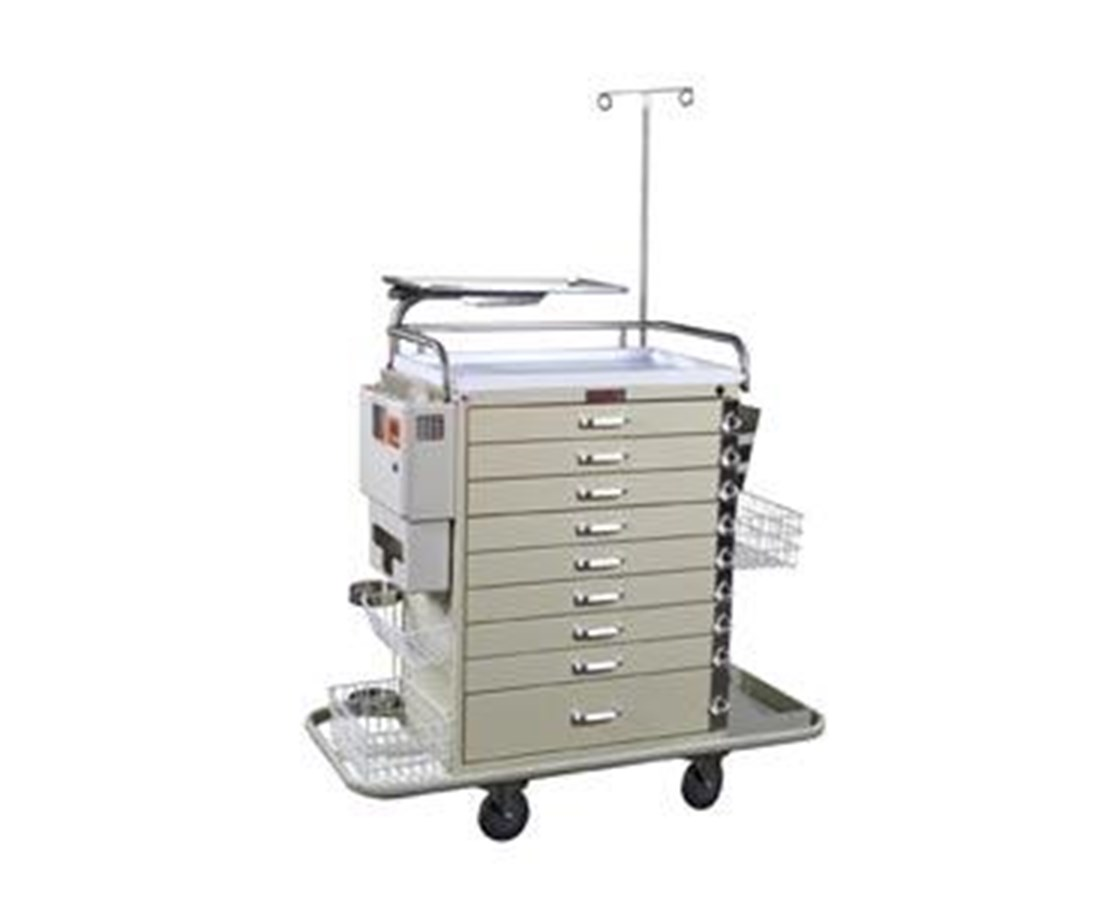 Classic Nine Drawer Pediatric Resuscitation Cart Super Stat Package HAR6411PEC-
