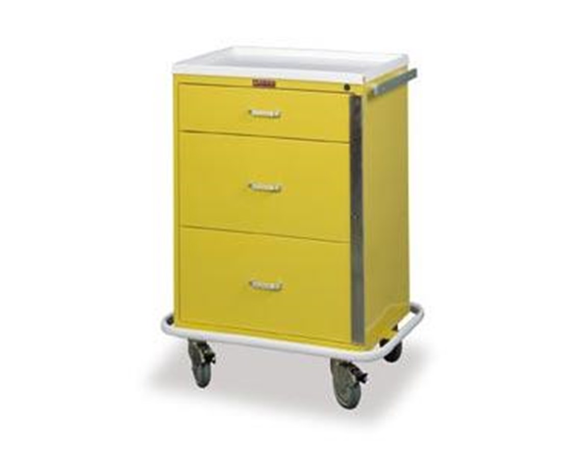 Classic Three Drawer Infection Control Cart with Breakaway Lock HAR6500-