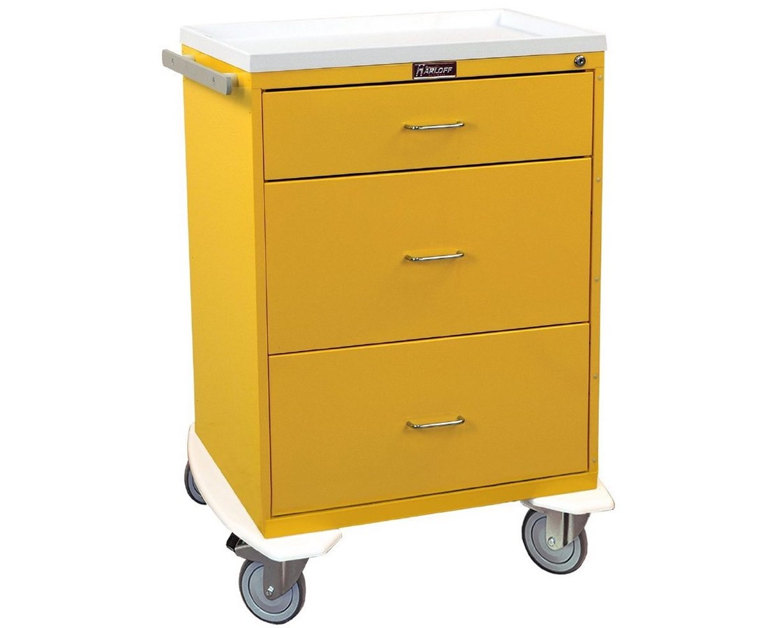 Classic Four Drawer Infection Control Cart with Key Lock HAR6510-