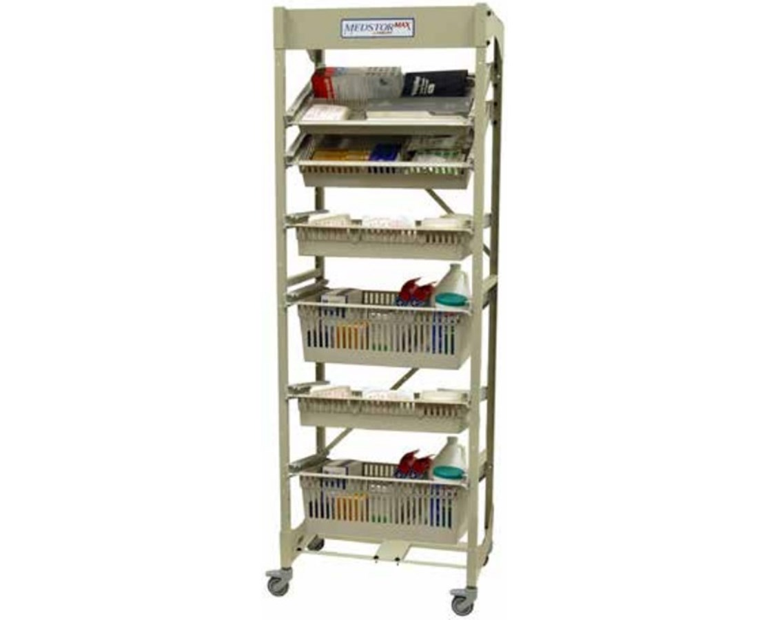 Mobile Open Frame 60 cm Width Wire Rack HARMOS7626-1COL-