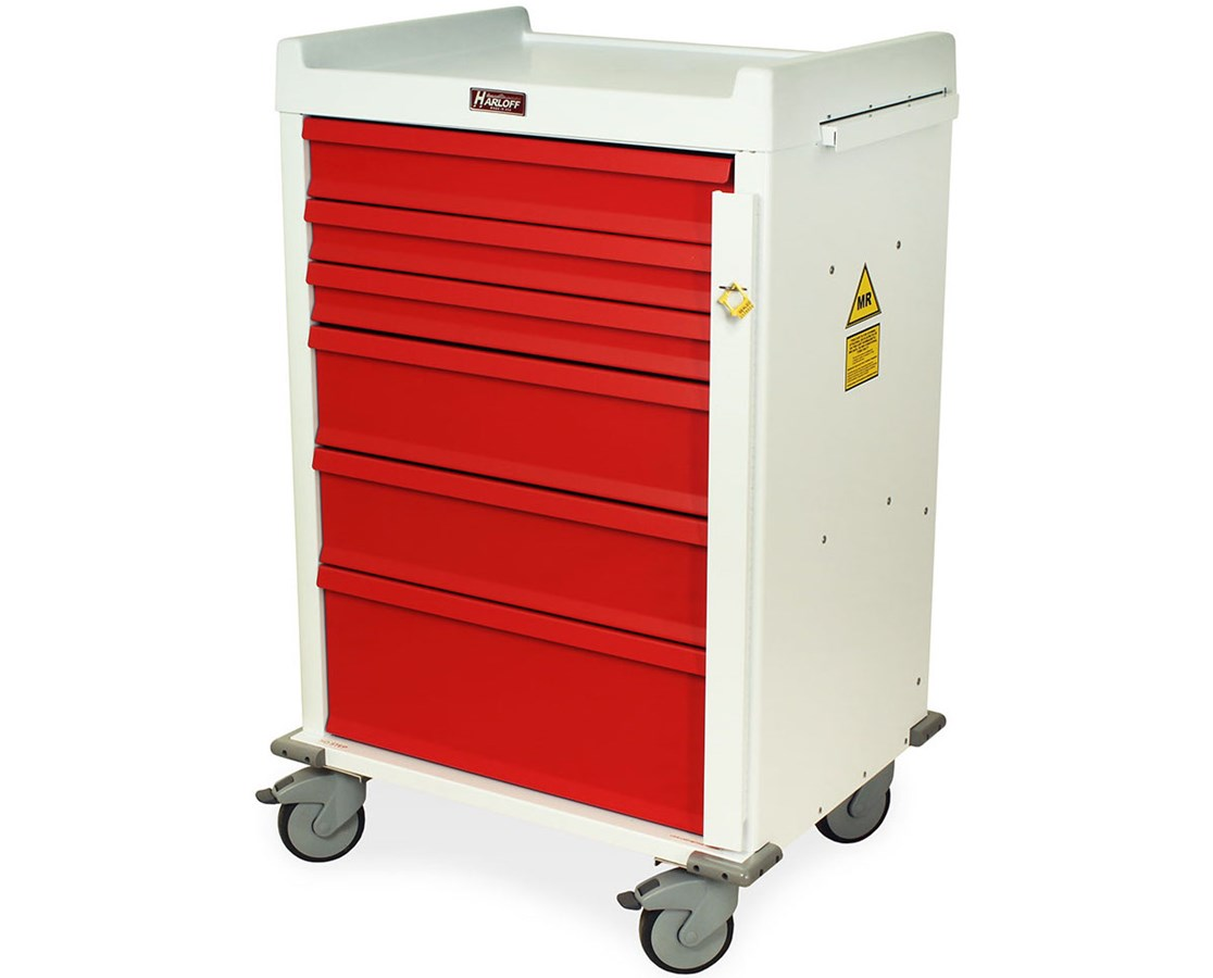 MR-Conditional Six Drawer Emergency Cart Breakaway Lock HARMR6B-