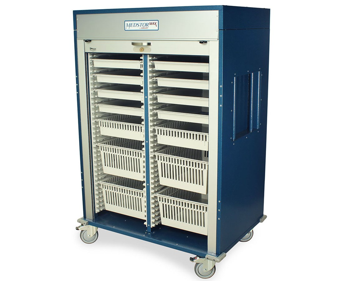3/4 Height Double Column Medical Storage Cart HARMS6140DR-