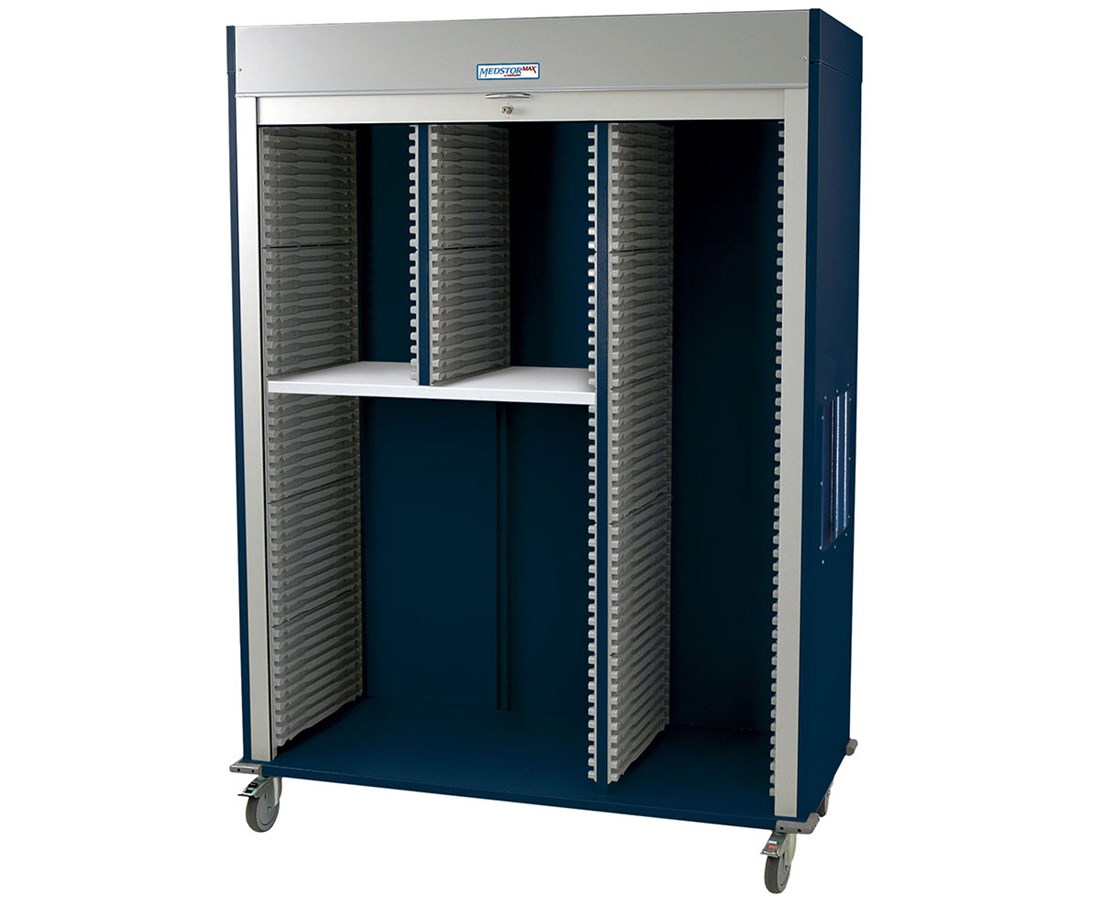 Medstor Max Triple Column Wide Medical Storage Cart HARMS8160L-SPLITA-