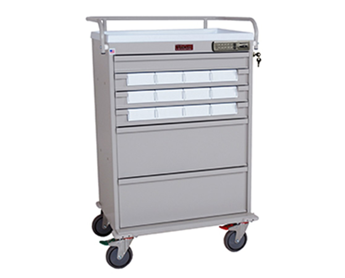 Value Line Single Column Med-Bin Cart HARVLT12BIN5-