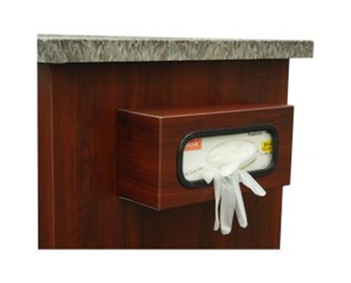 Wood Vinyl Coated Aluminum Single Glove Box Holder HARWV-2362-CM-