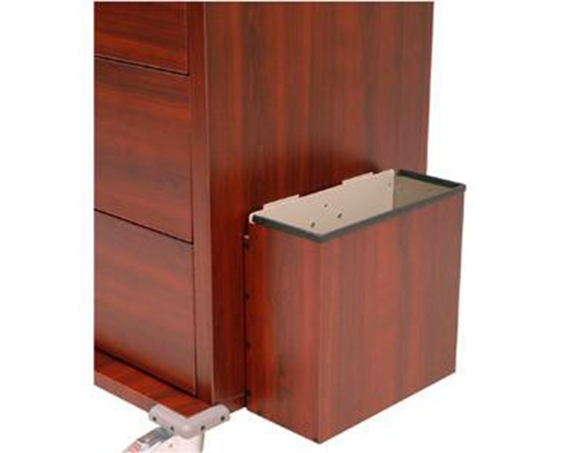 Wood Vinyl Coated Aluminum Waste Container HARWV-680435-CM-