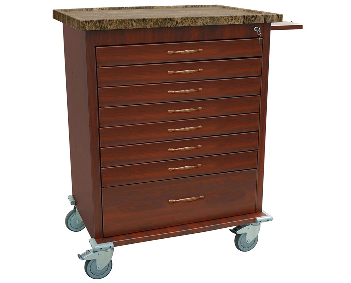 Wood Vinyl 294 Capacity Unit Dose Medication Cart HARWV294BOX-DC-