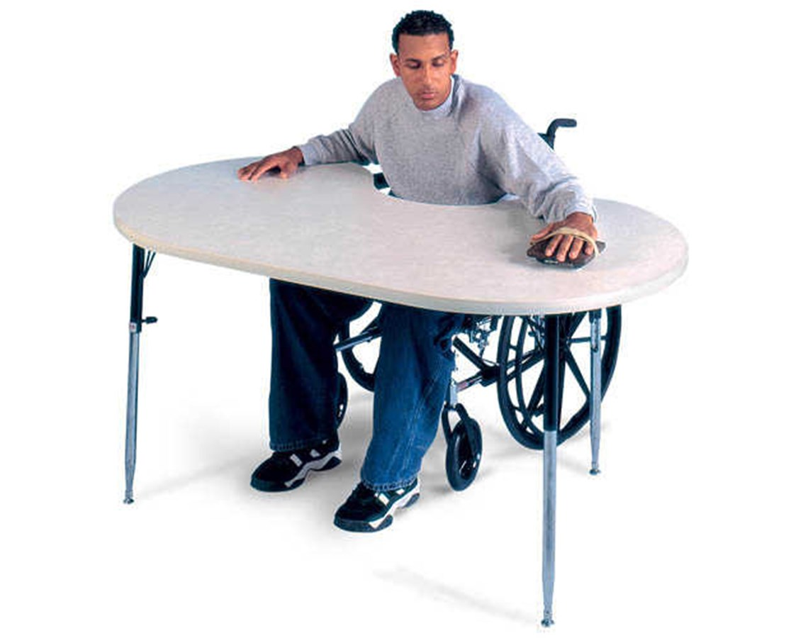 Height Adjustable Powder Board Therapy Table HAU6642