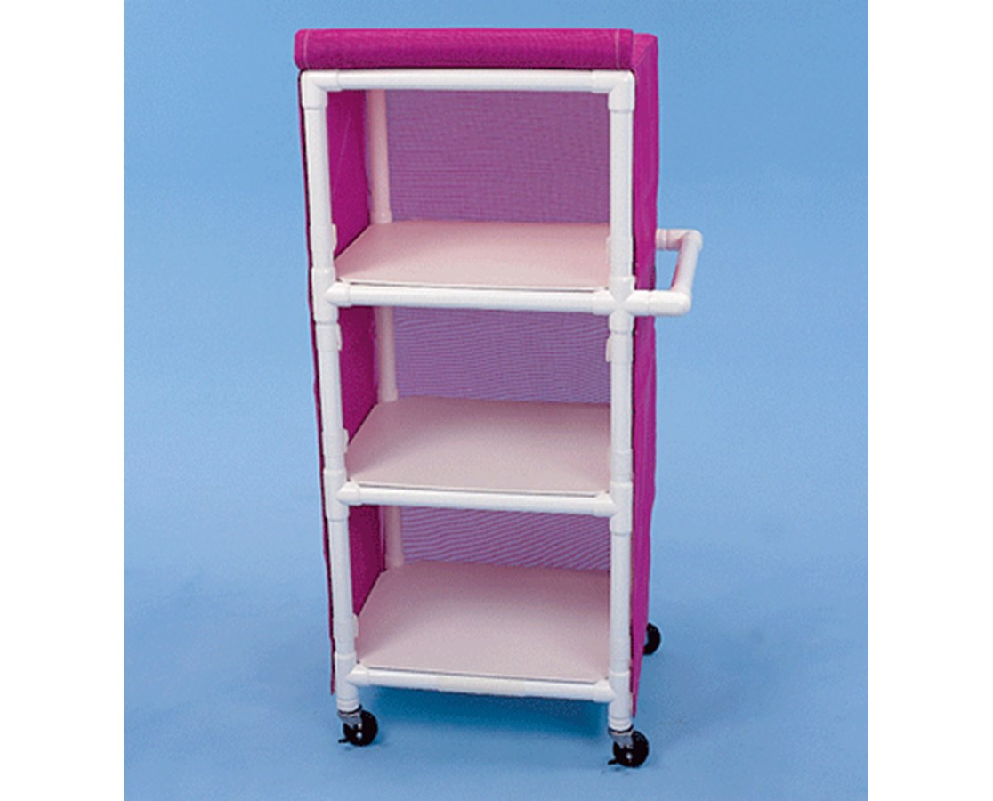 Three Shelf Linen Cart with Cover HMPLC243W3