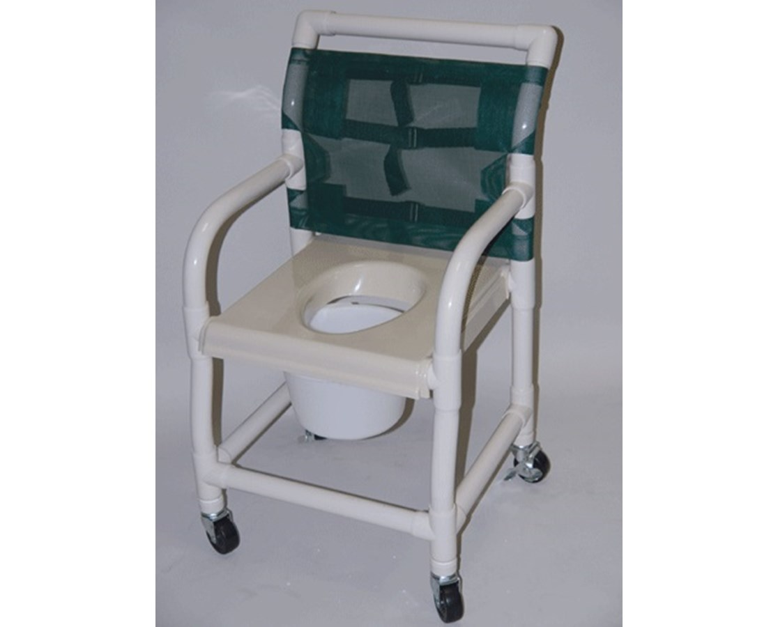 "PVC Shower Chair with Vaccum Formed Seat - 18"" Width HMPSC6013DVAC-"