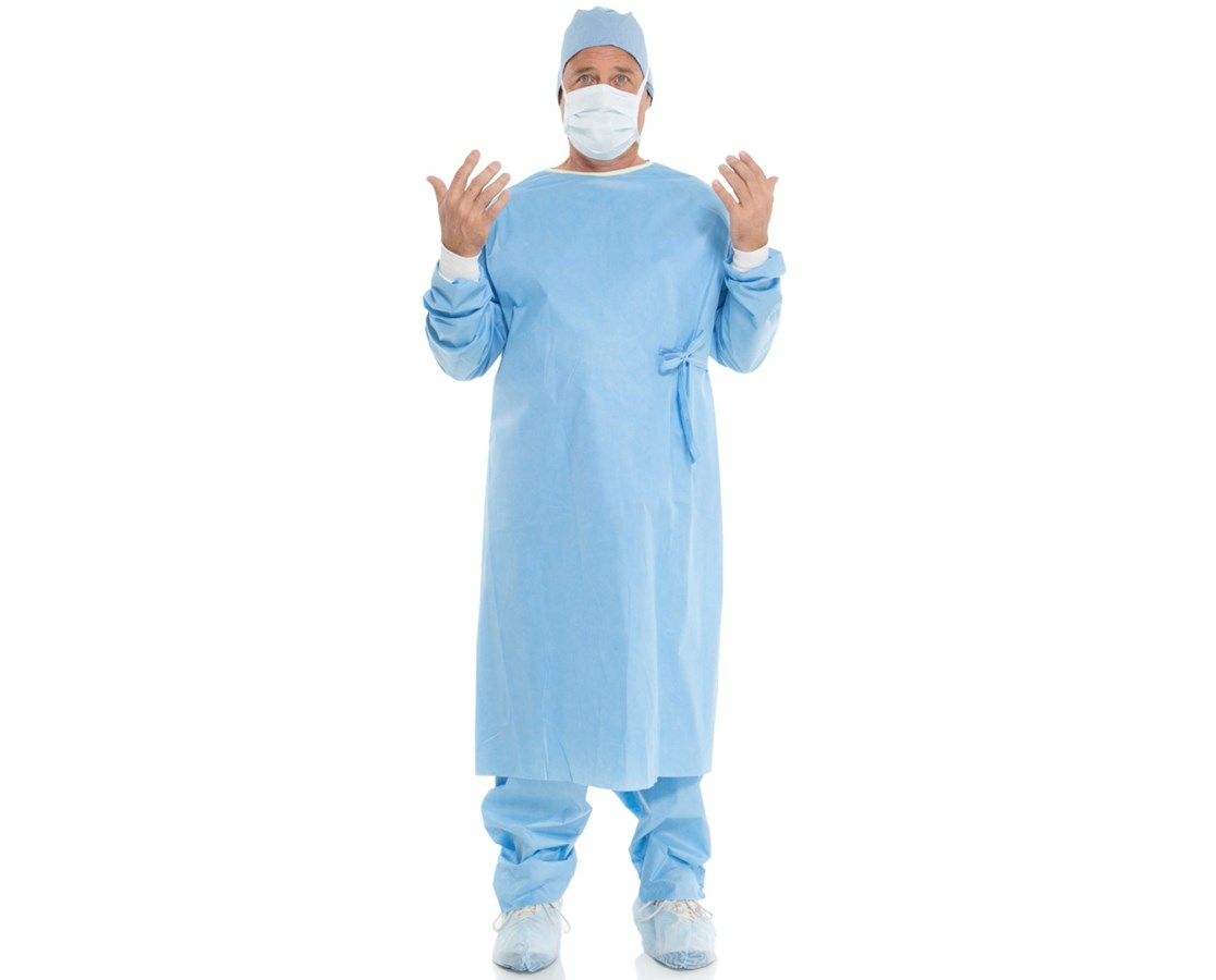EVOLUTION 4 Non-Reinforced Surgical Gown with Set-In Sleeves KIM90048