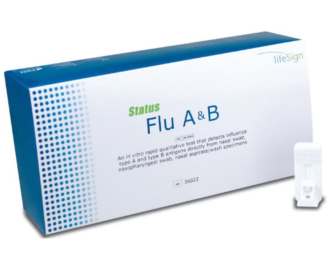 Status Flu A & B Test Kit LFS36022