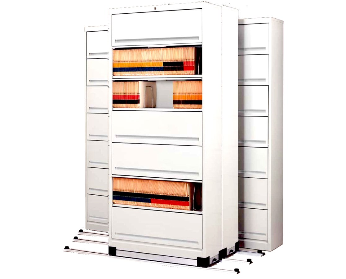 Flip-n-File™ Cabinets on Kwik-Track - Tri-Slider, 4 Units - 2/1/1 MAYFF5211-