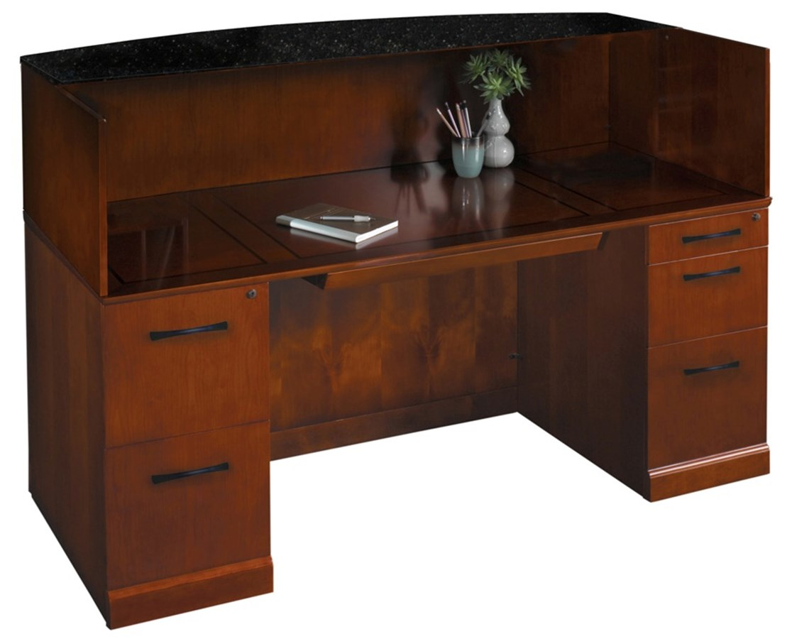 Sorrento™ Series Reception Desk with Counter Options MAYSRCD-