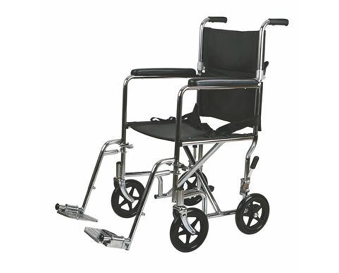 Medline MDS808200 Excel Steel Transport Chair
