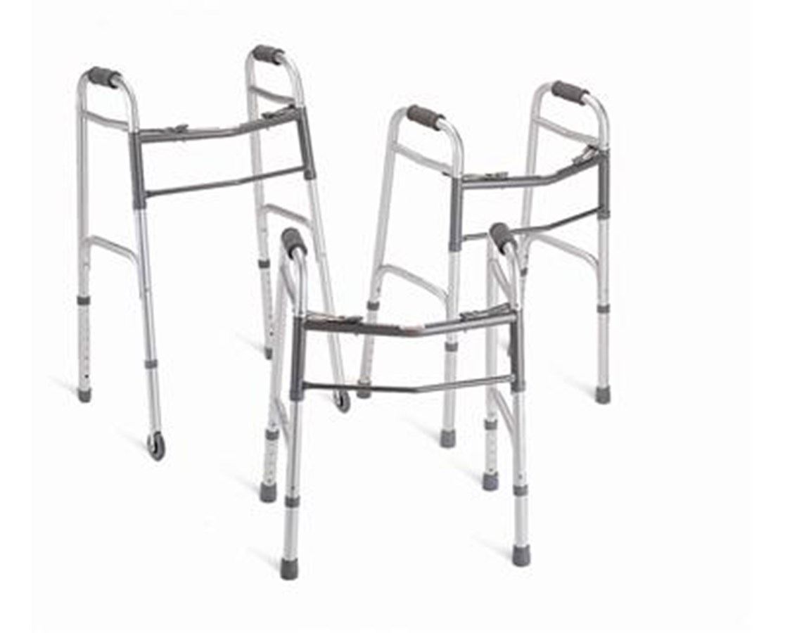 "Youth Two-Button Folding Walkers with 5"" Wheels MEDMDS86410JW54"