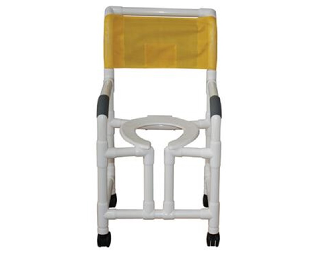 MJM118-3-OF Commode Shower Chair with True Vertical Open Front
