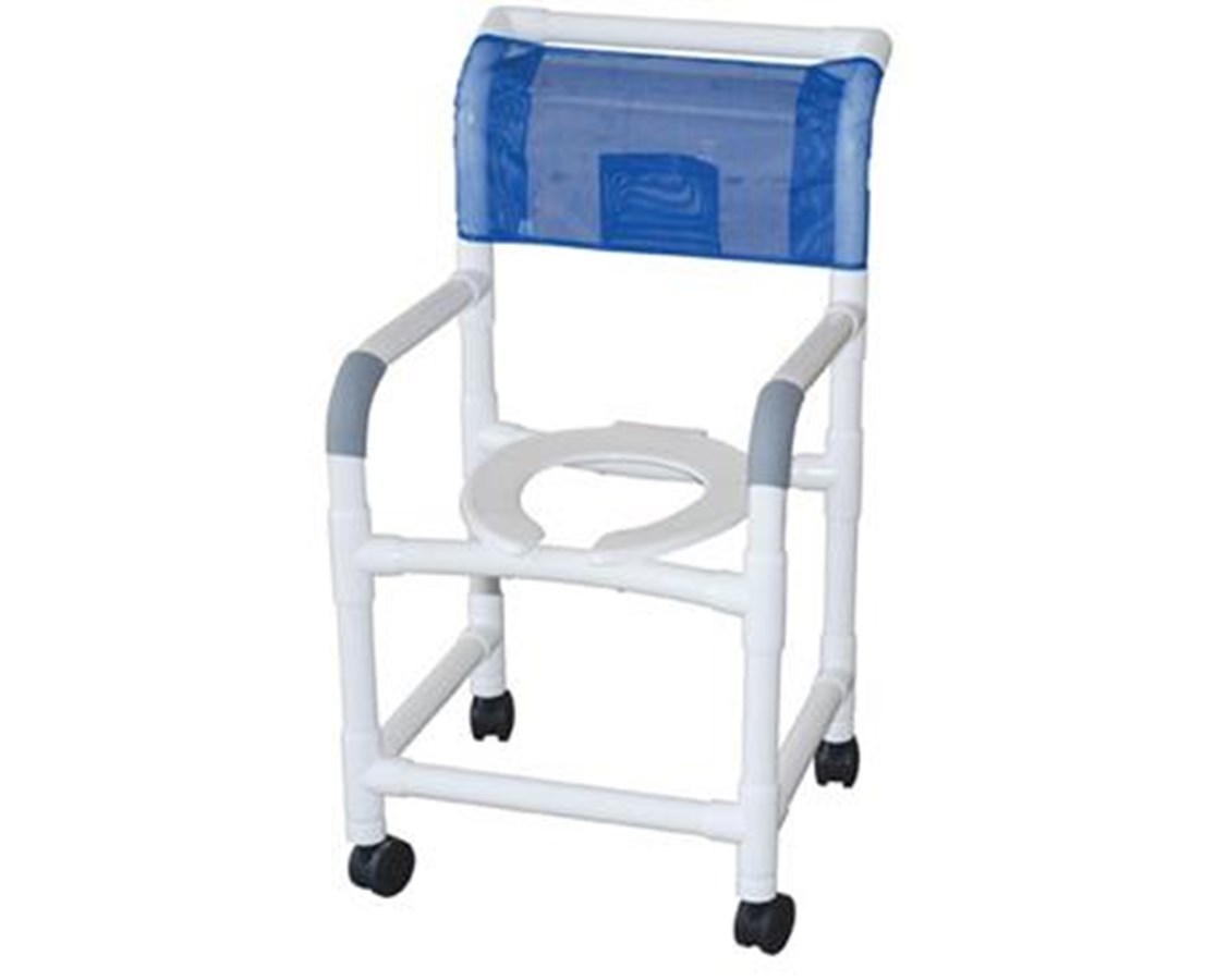 MJM 118-3B Commode Shower Chair with Brake Casters