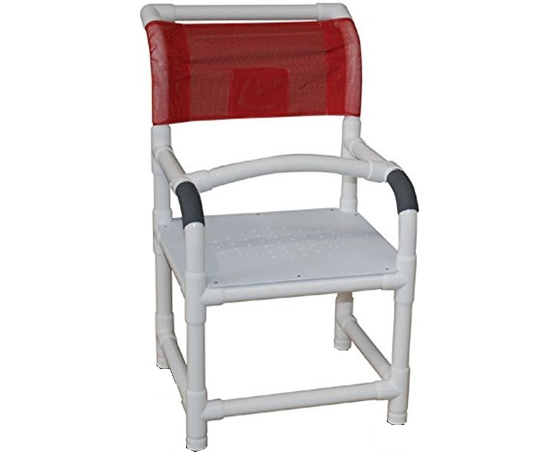 MJM 118-LP-F Shower Chair with Rubber Tipped Legs