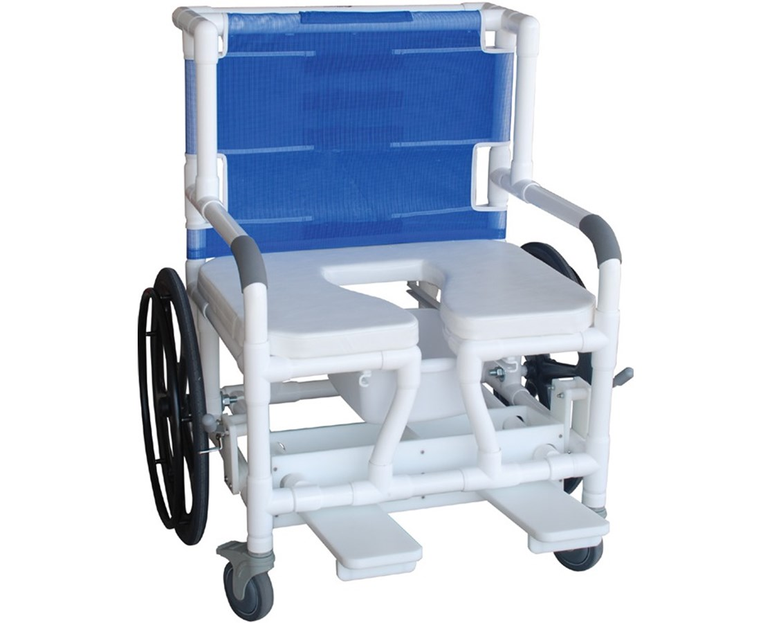 Self Propelled Aquatic Rehab Shower Transport Chair With Bar MJM131-18-24W-BAR