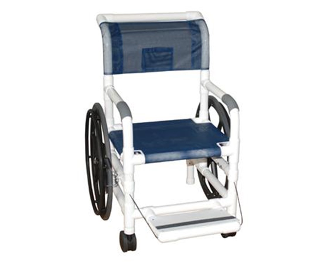 "MJM131-18-24W-SL-MRI 18"" MRI Non-Magnetic Self Propelled Aquatic Rehab Transport Chair with Mesh Sling Seat"