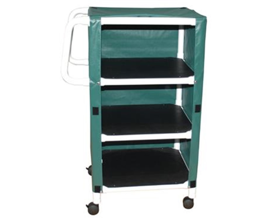 "MJM 325-24-3C-MRI Non-Magnetic 3 Shelf Jumbo 24"" Linen Cart"