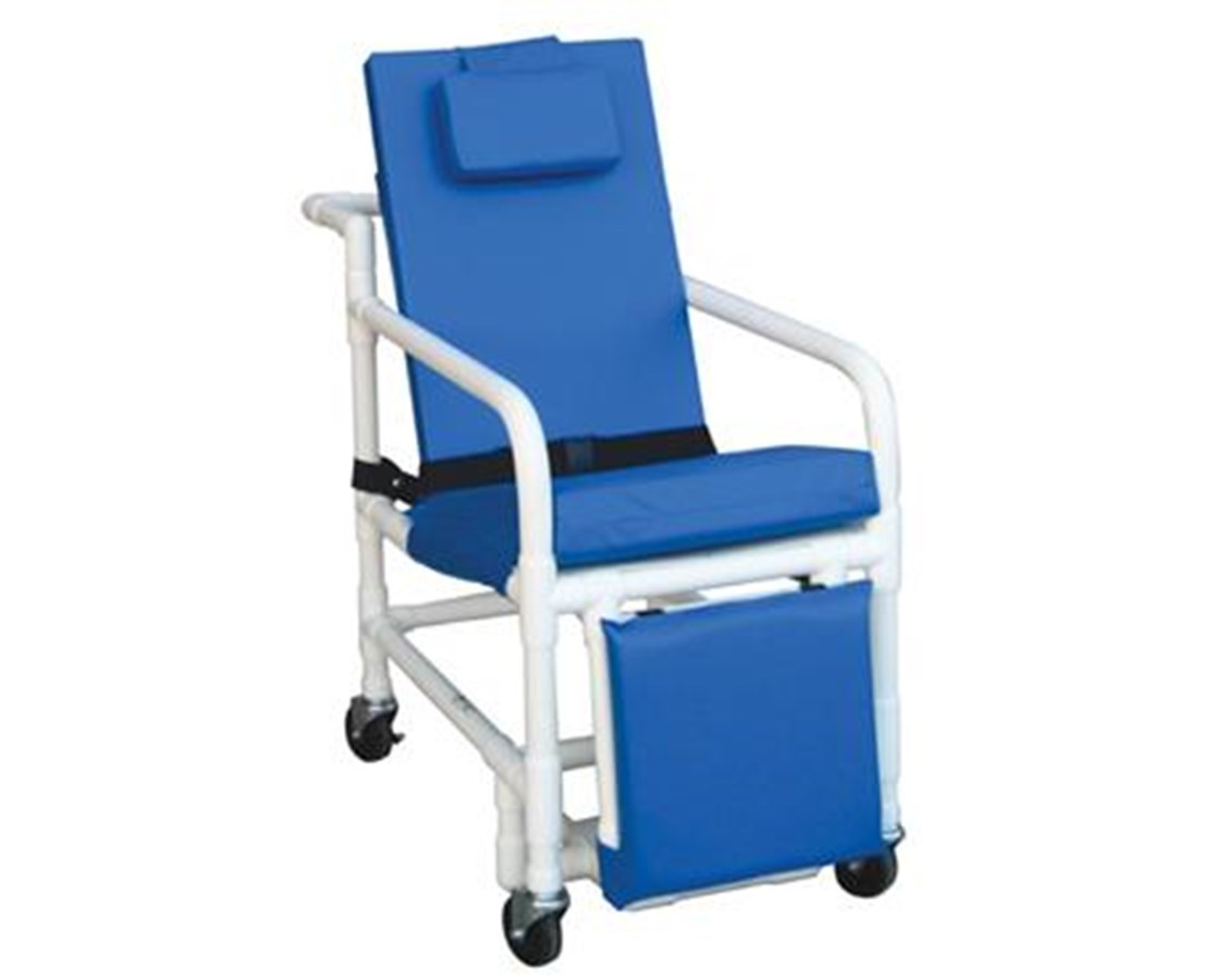 Awesome Reclining Geri Chair With Elevated Leg Rest And Drop Down Arms
