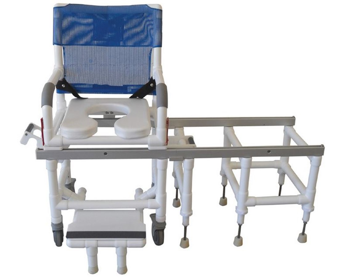 Deluxe Dual Shower Commode and Transfer Bench MJMD118-5-SLIDE  sc 1 st  Tiger Medical : tub transfer chair - Cheerinfomania.Com