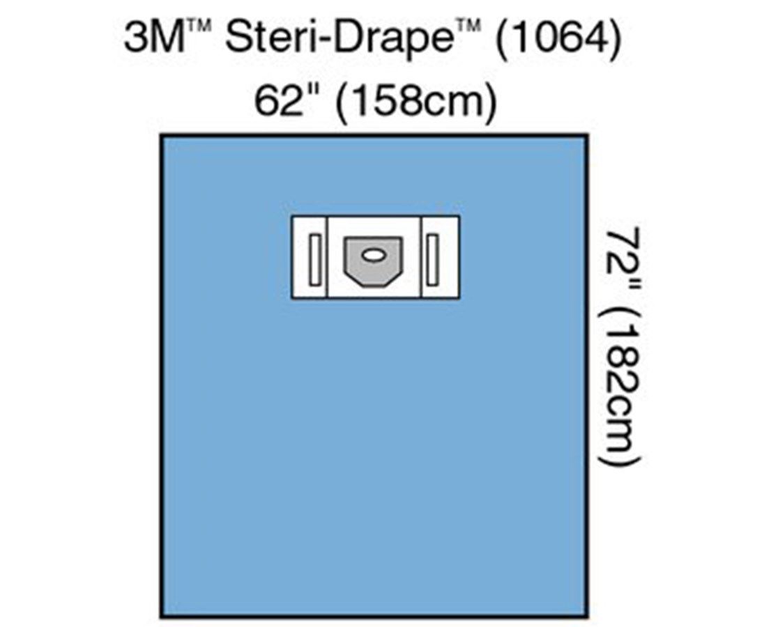 Steri-Drape™ Ophthalmic Sheet with Aperture & 2 Pouches MMM1064